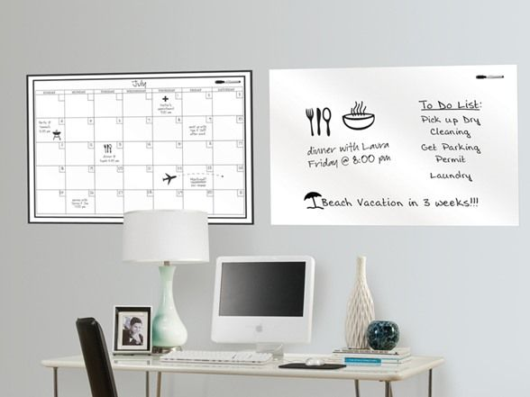 Removable Wall Whiteboard Dry Erase Calendar Removable Wall