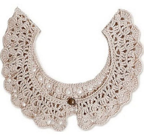 9 easy crocheted collar patterns free | Pinterest | Patrones y ...