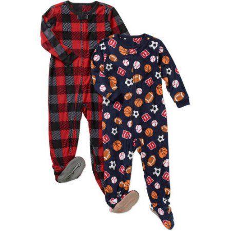 449a8bc69497 Garanimals Baby Toddler Boy Microfleece Blanket Sleepers