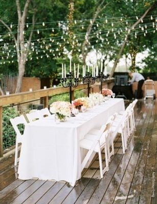 Black and White Candle Wedding Reception Centerpiece