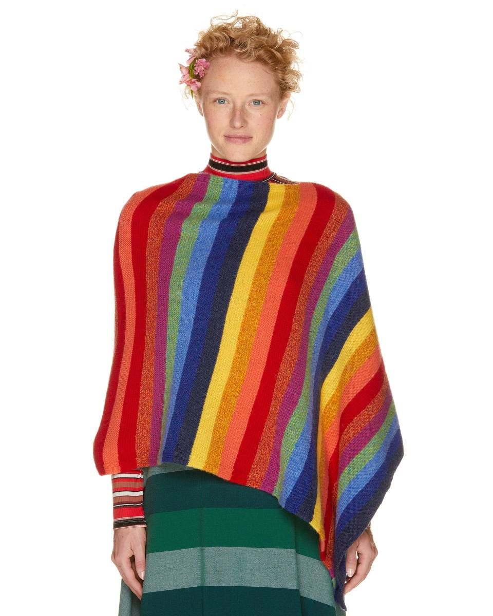 de6c6461d 100% virgin wool poncho, Blue - Check out the new collection and shop  online at benetton.com. Free delivery on orders over 614 KN.