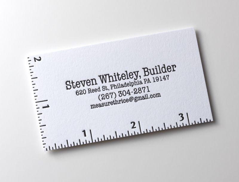 Letterpres business cards | Business Cards | Pinterest | Business ...