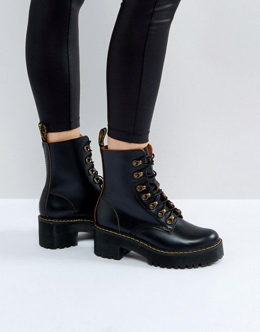 Dr Martens Leona Hiker Chunky Lace Up Ankle Boots  d001b7cd479a