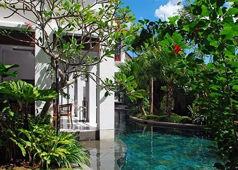 Modern Tropical Pool Batavia Villa Bali Bali Landscape Company Pool Landscaping Backyard Pool Landscaping Tropical Landscape Design