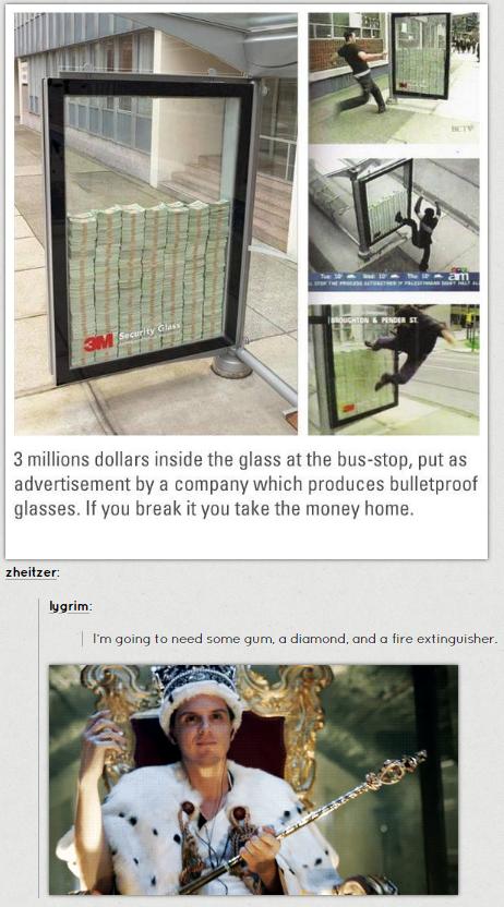 I want the money!