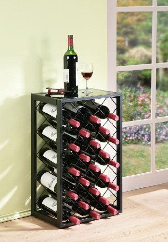 Mango Steam 23 Bottle Wine Rack With Glass Table Top Black Mango Steam Http Www Amazon Com Dp B00dszspni Ref Cm S Wine Rack Wine Rack Design Metal Wine Rack