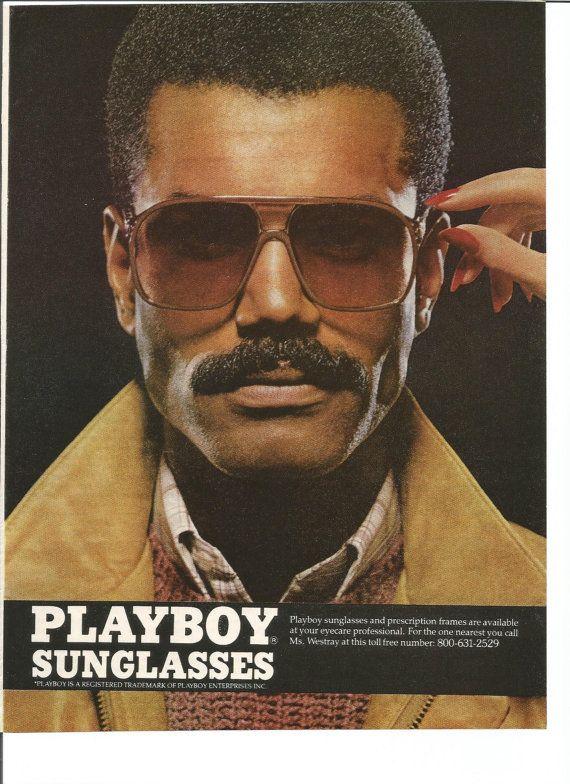 5306e9fda0 1982 Playboy Sunglasses Advertisement 80s Mens Sun Glasses Fashion Style  Handsome Hot Eyewear Tinted Wall Art Decor