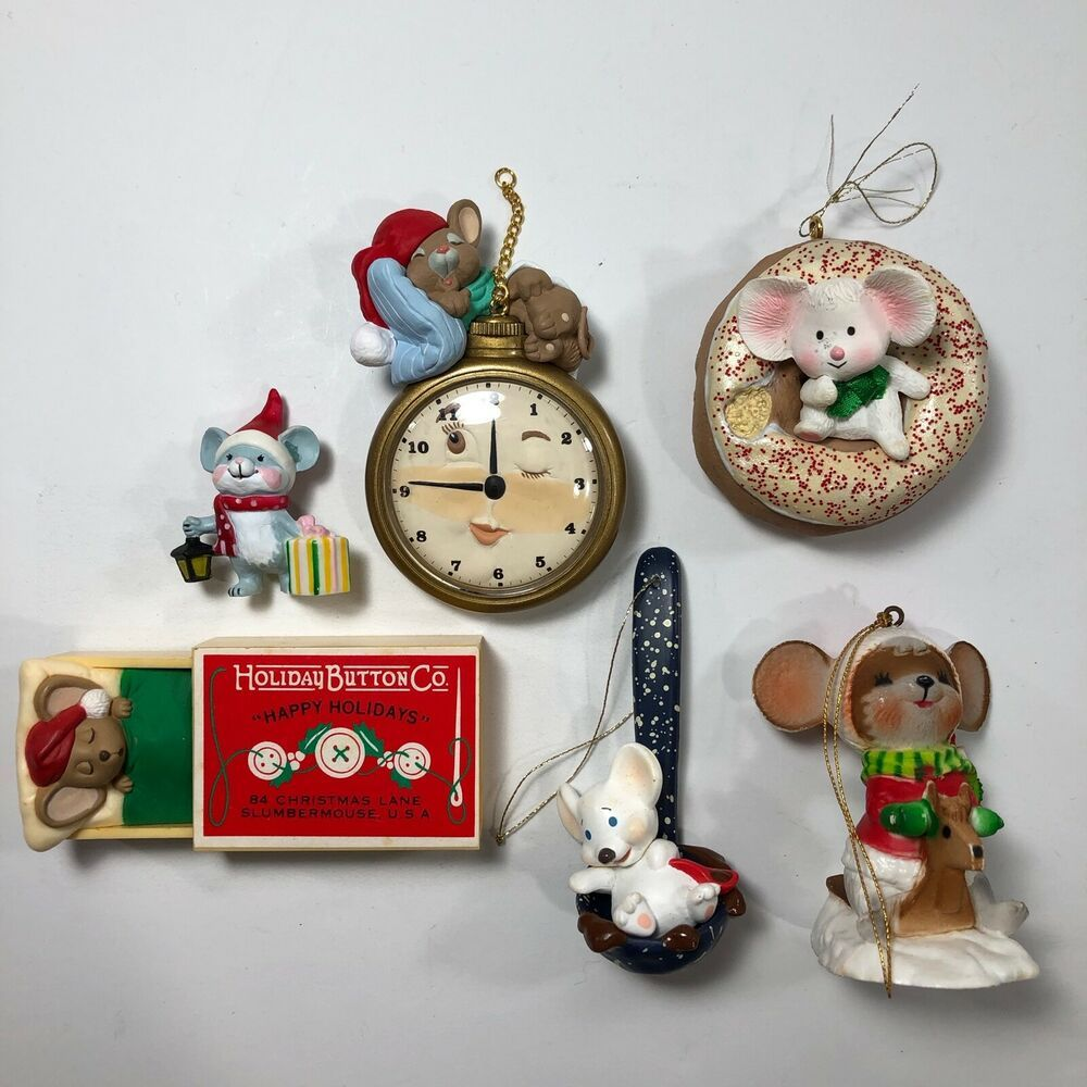 Mice Christmas Tree Ornaments And Holiday Decorations Lot