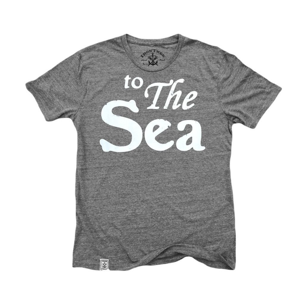 to The Sea: Tri-Blend Short Sleeve T-Shirt Tri Vintage Grey