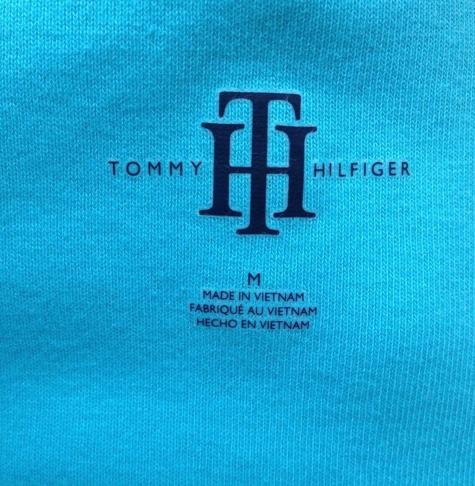 Tommy Hilfiger Women's BLUE Knit V Neck Short Sleeves T-Shirt .M. $29.50 #TommyHilfiger #Short