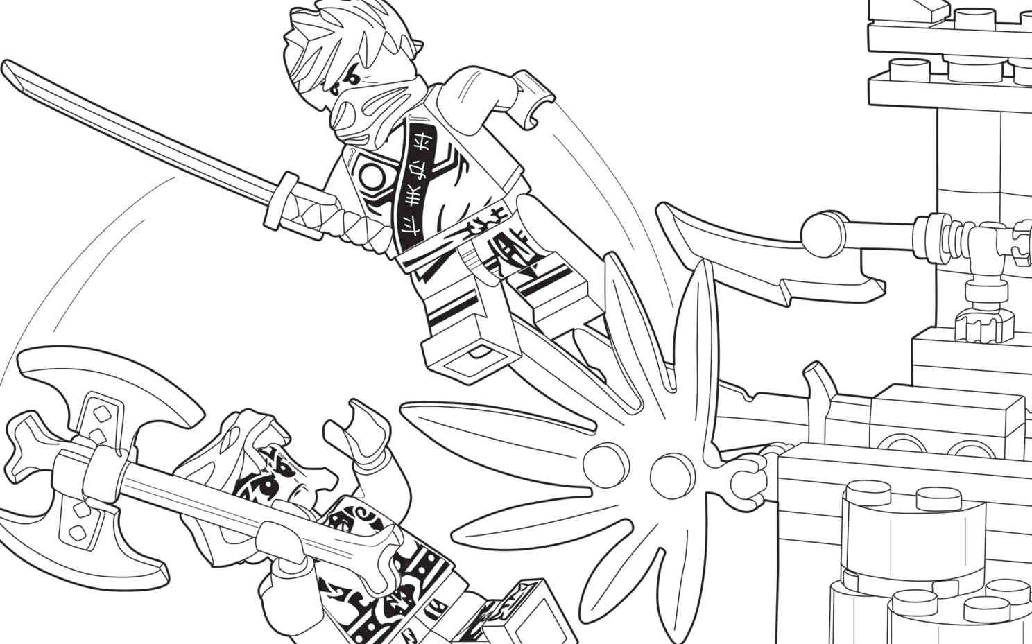 8 - Colouring Page - Activities  Ninjago coloring pages, Lego