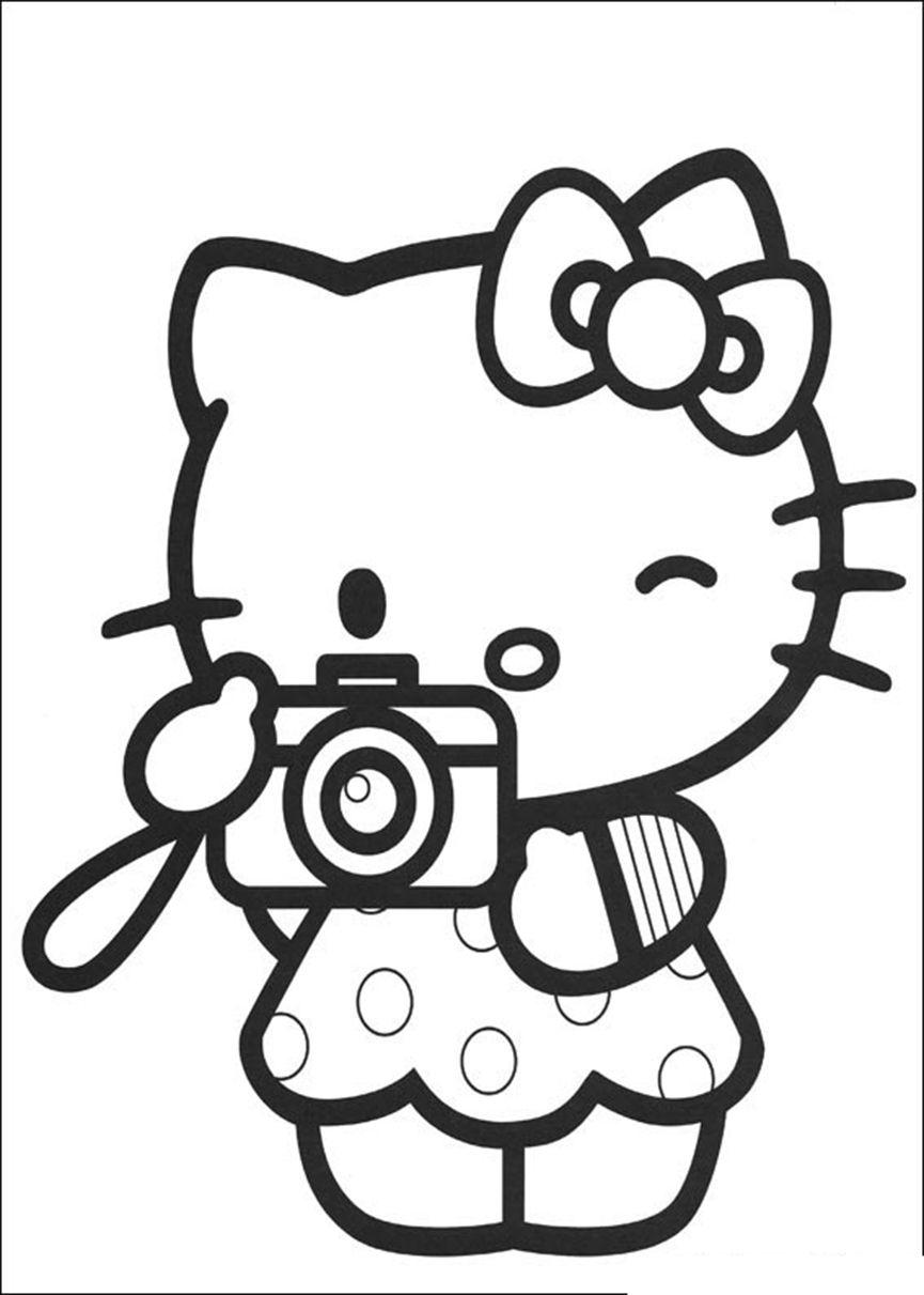 hello kitty malvorlagen kopf  buku mewarnai warna gambar