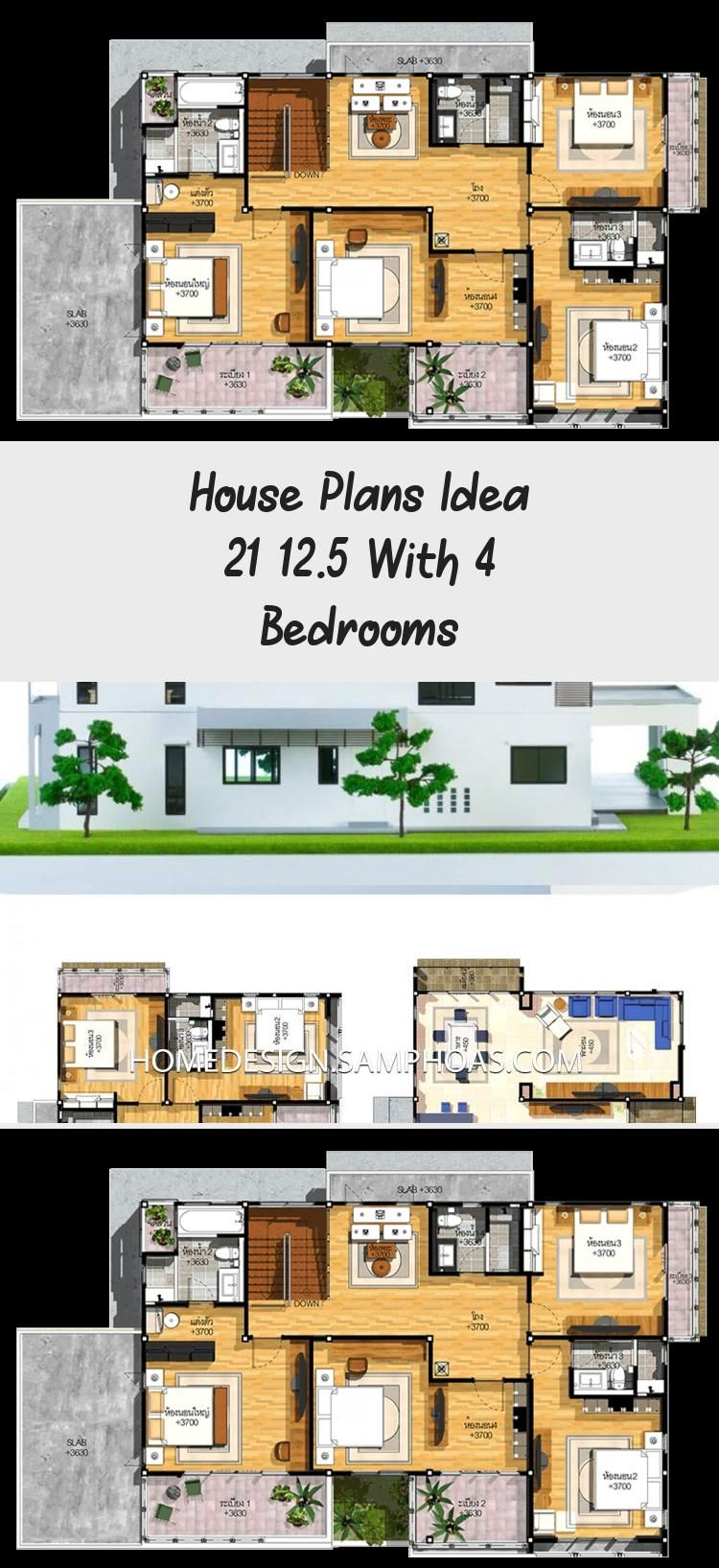 House Plans Idea 21 12 5 With 4 Bedrooms In 2020 House Plans Country Floor Plans Floor Plans