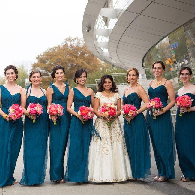 817f1bf3ebd Blue bridal party dresses    photo  Ira Lippke Studios    event planning   Jessica Jakobson