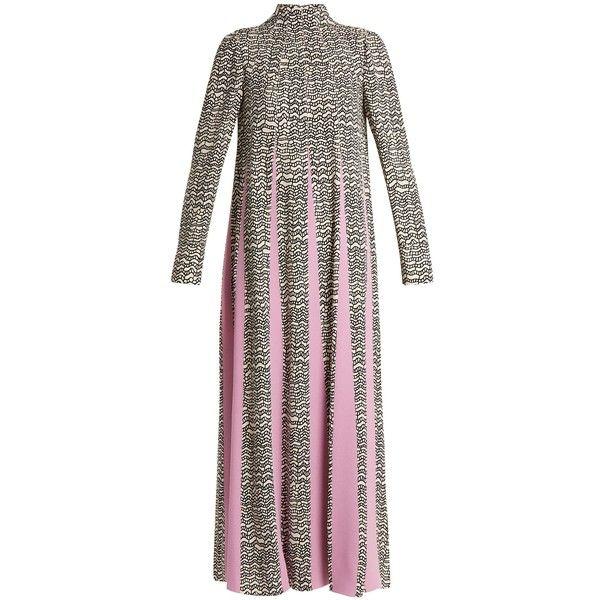 High-neck graphic-wave print dress Valentino Clearance Online Cheap Real Cheap Sast Cheap Wiki RjoB4j4BX