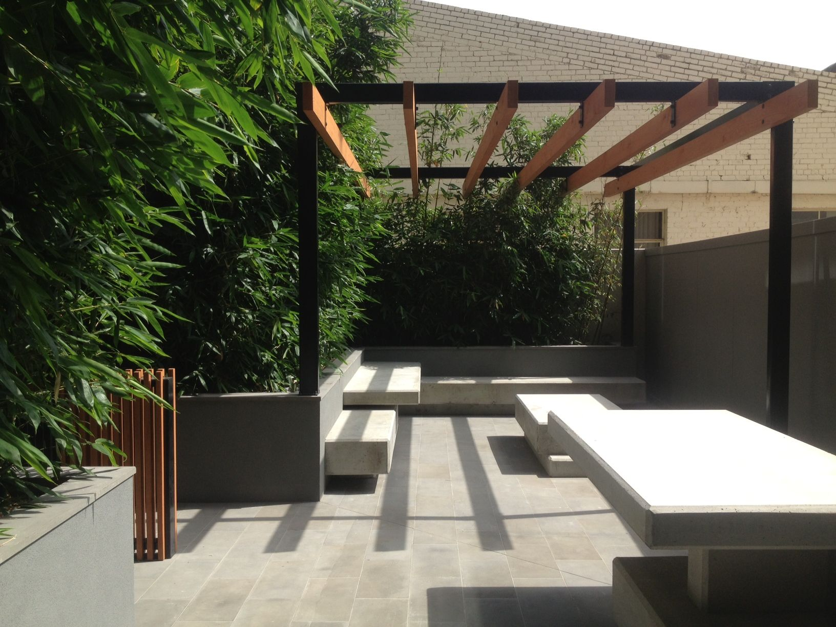 The Bamboo Courtyard Modern Pergolapergola