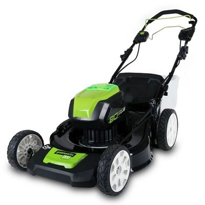 The Self Propelled Cordless Electric Mower A Battery Powered