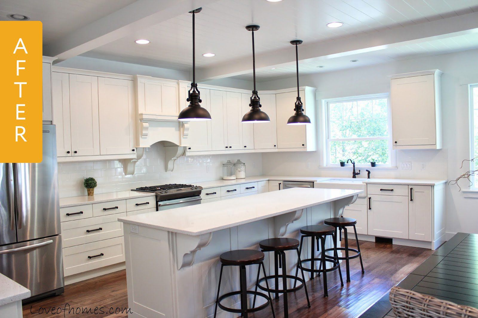 Kitchen Remodeling Leads Captivating Kitchen Before & After A Chaotic Remodel Leads To A Big Payoff . Design Ideas