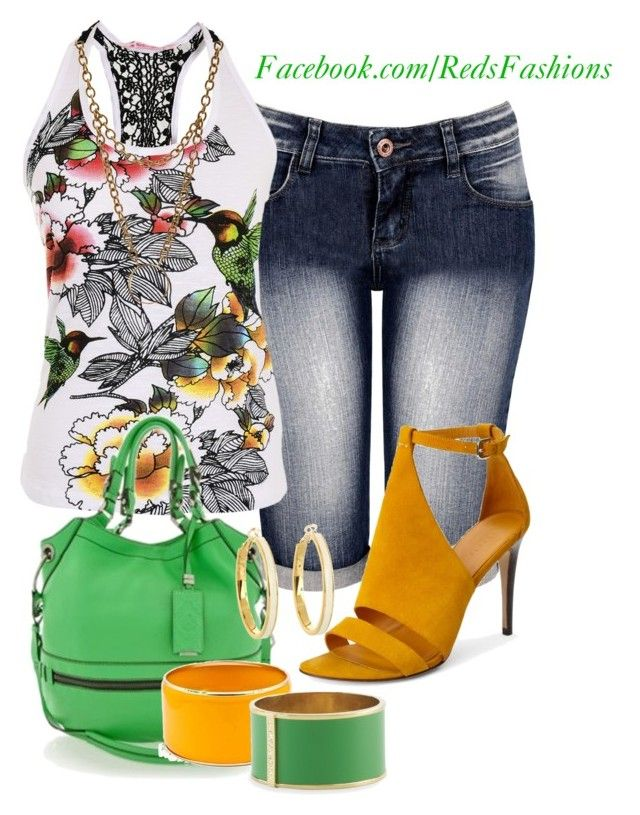 """""""Green & Yellow"""" by redsfashions ❤ liked on Polyvore featuring Theory, Oryany, Fantasy Jewelry Box, Vince Camuto, Aesa, Kate Spade, women's clothing, women, female and woman"""