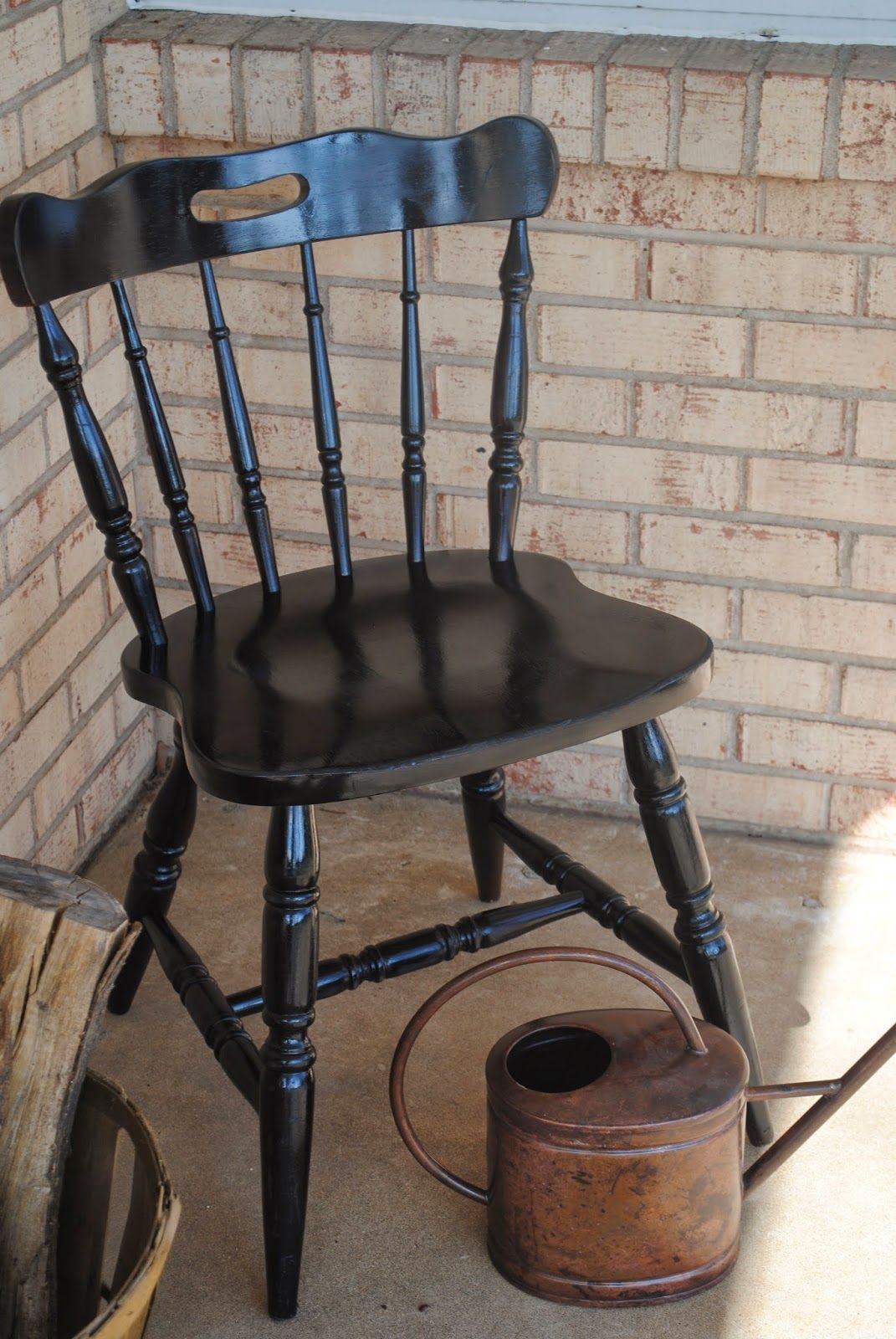 Vinyl And Spray Paint Wood Chair Makeover In 2019 Crafts Painted