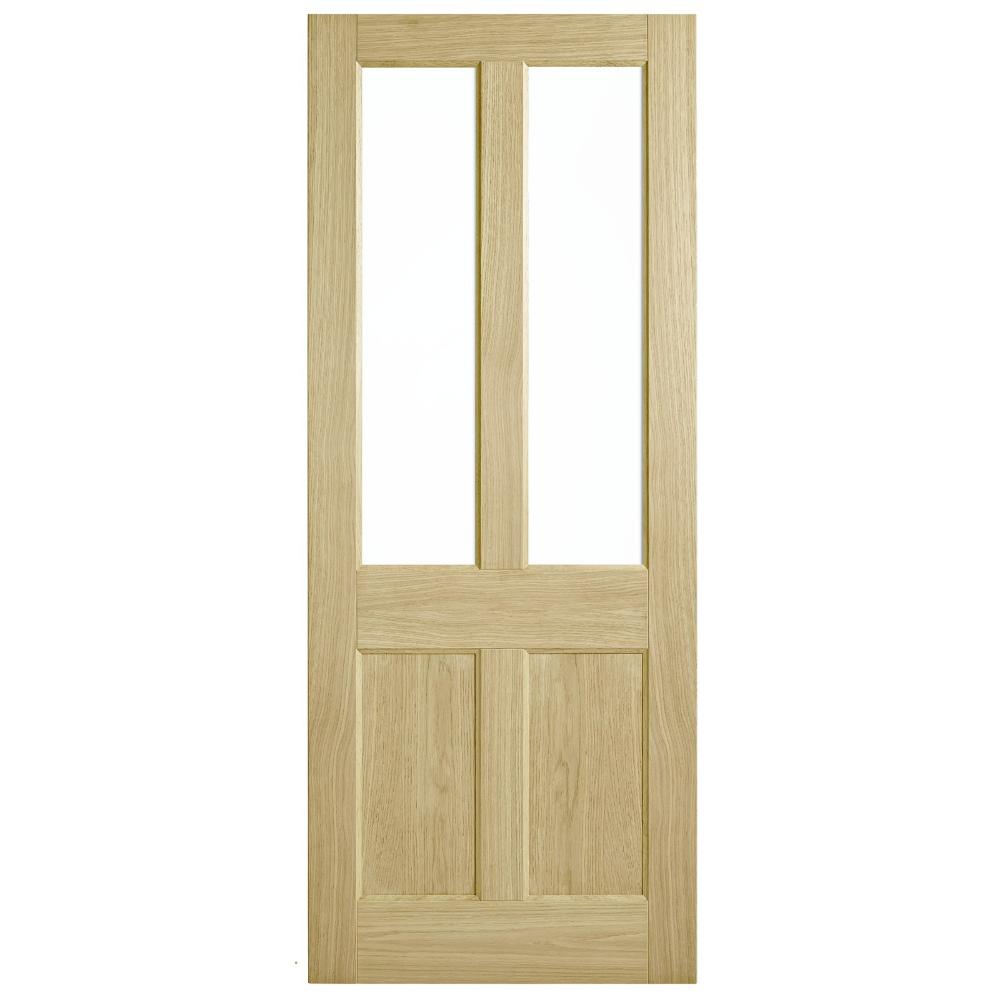 Corinthian Doors 920 X 2040 X 40mm Blonde Oak Awo 7g Clear Glass Entrance Door Glass Entrance Doors Installing French Doors Cavity Sliding Doors