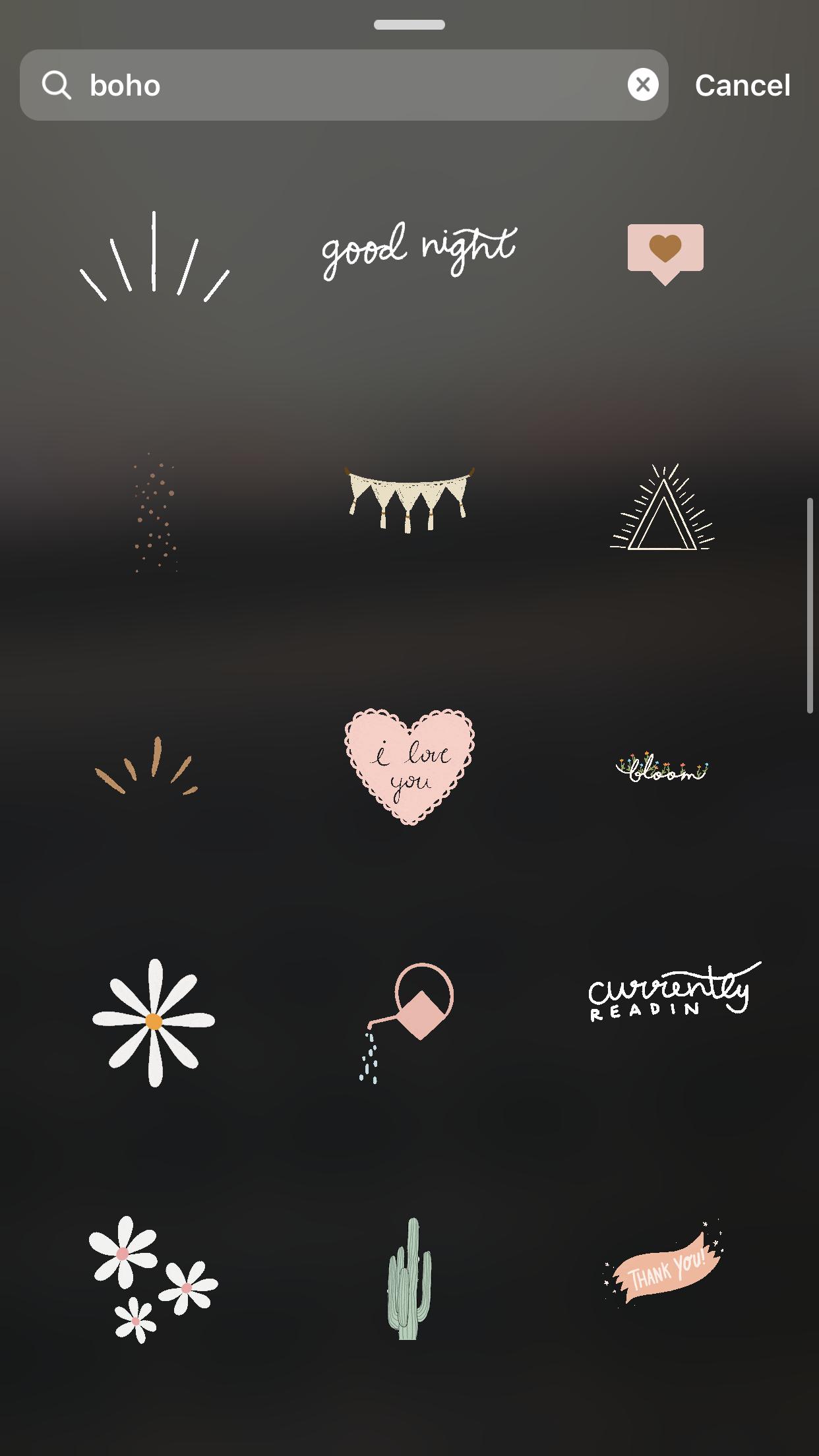 Cute Boho Instagram Gifs Instagram Aesthetic Instagram Creative Instagram Emoji
