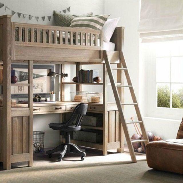 Camarote con escritorio debajo dormitorios camarote - Cama en alto ...