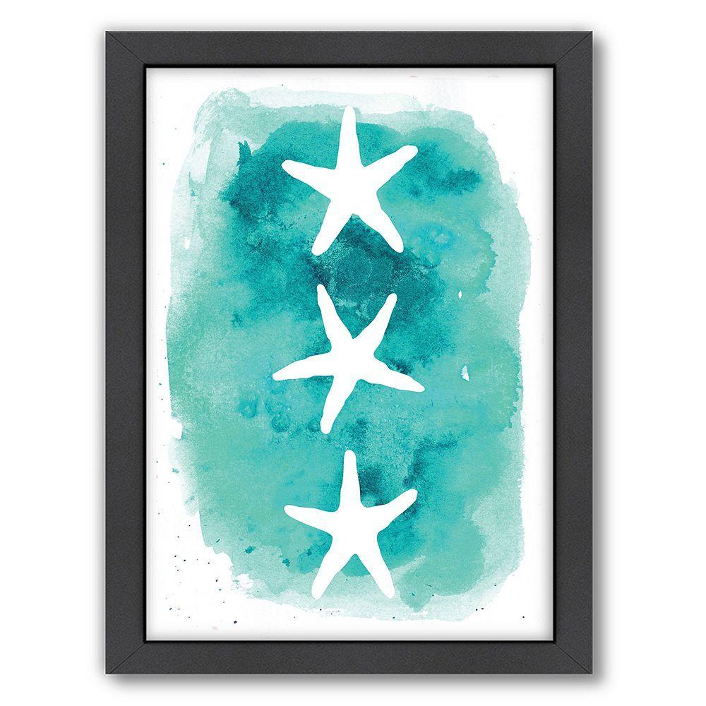 Americanflat Starfish Framed Wall Art Starfish Wall Art Starfish Art Starfish Painting