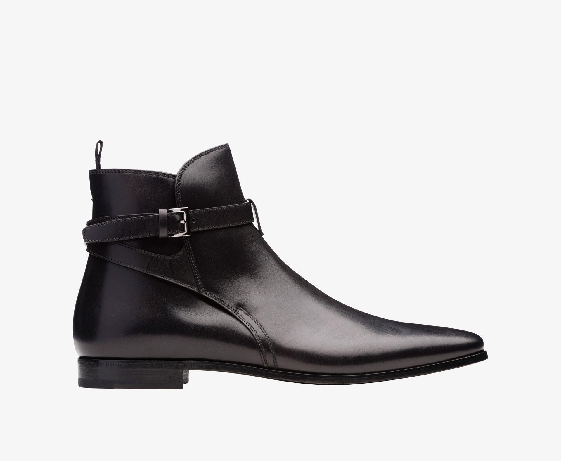 loafer detail ankle boots - Black Prada LH72uzngSy