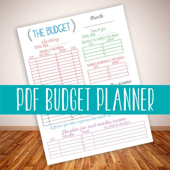 Printable Budget Planner-Family Budget Planner-Monthly Budget