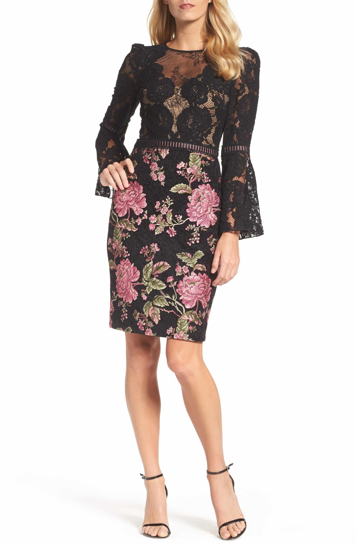 Tadashi Shoji Lace Brocade Sheath Dress Nordstrom Cocktail Dress Lace How Not To Dress Old Fashion [ 3000 x 1956 Pixel ]