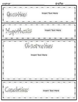 Scientific Method Student Sheet Scientific Method Scientific