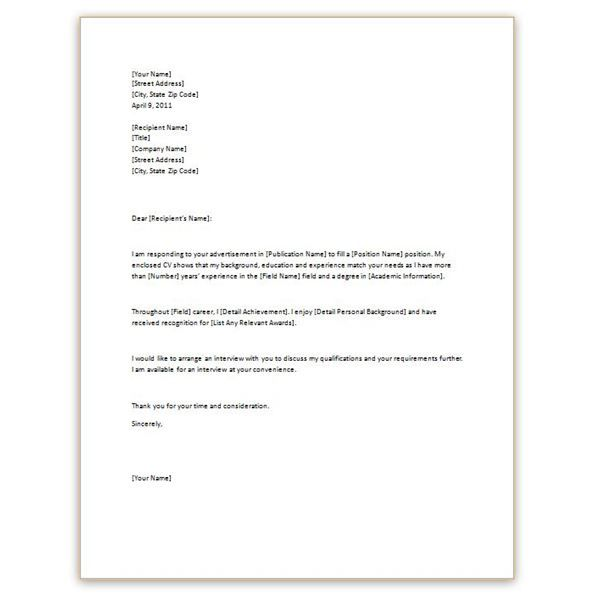 Cv With Cover Letter Template , #cover