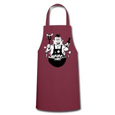 Würstchen auf dem Grill, glühende Kohlen, Bier offen. Das Grillfest kann beginnen. Dies ist auch ein großes Geschenk für den Vatertag.Schürzen. #SOLD #Spreadshirt #Cardvibes #Tekenaartje #BBQ #Grill