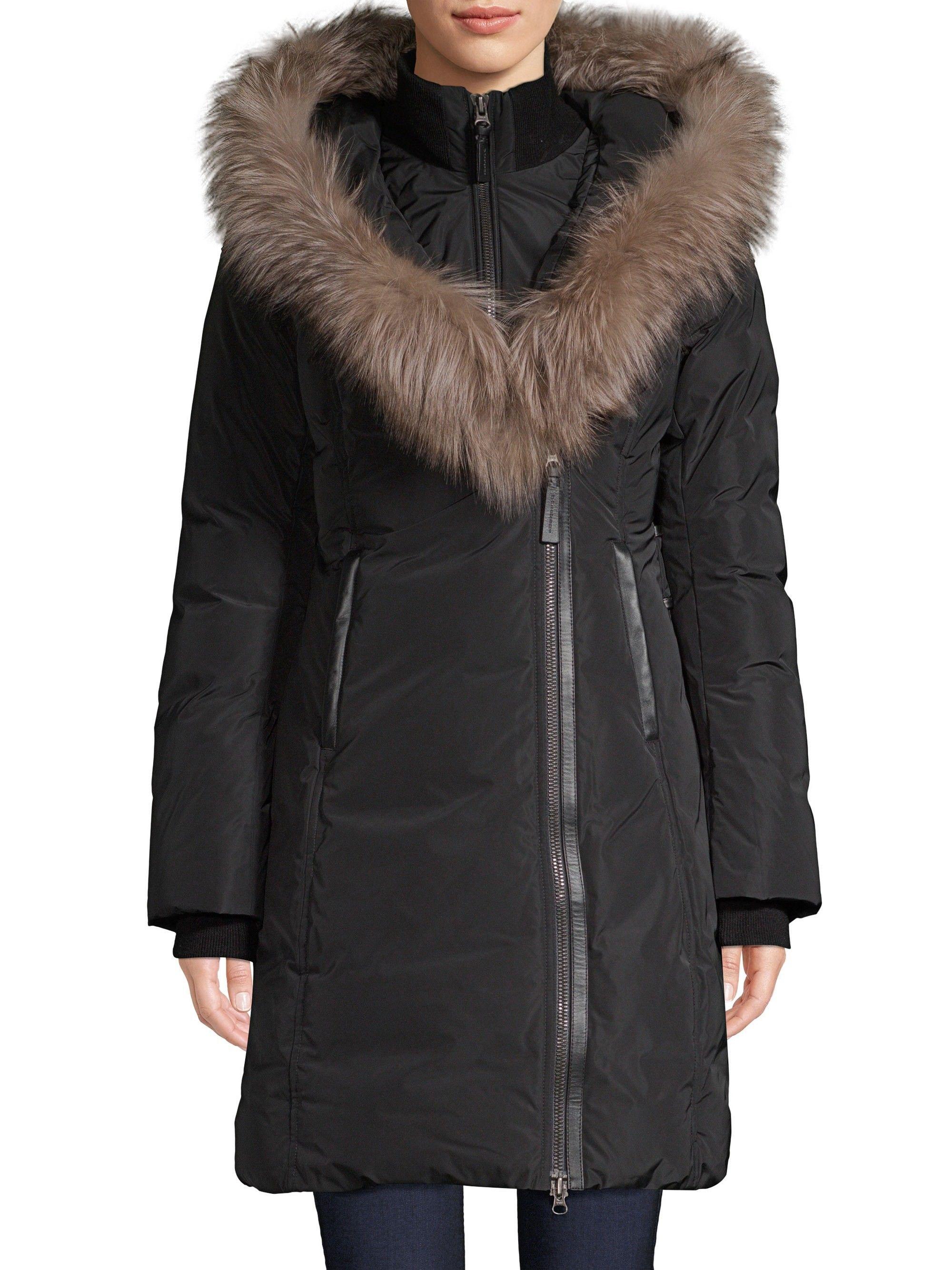 0ec3abc6cd5 Mackage Fox Fur Collar Down Coat - Black Medium