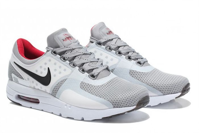 Mens Nike Air Max Zero Neutral Grey White Red Black Shoes