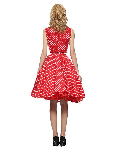 Maggie Tang Women's 50s VTG Retro Polka Dots Rockabilly Hepburn Pinup Cos Party Swing Dress 530 5064813 2016 – $29.99