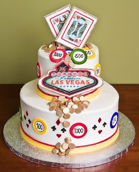 Vegas Cake For A Wedding Or Casino Party Or My Good Luck