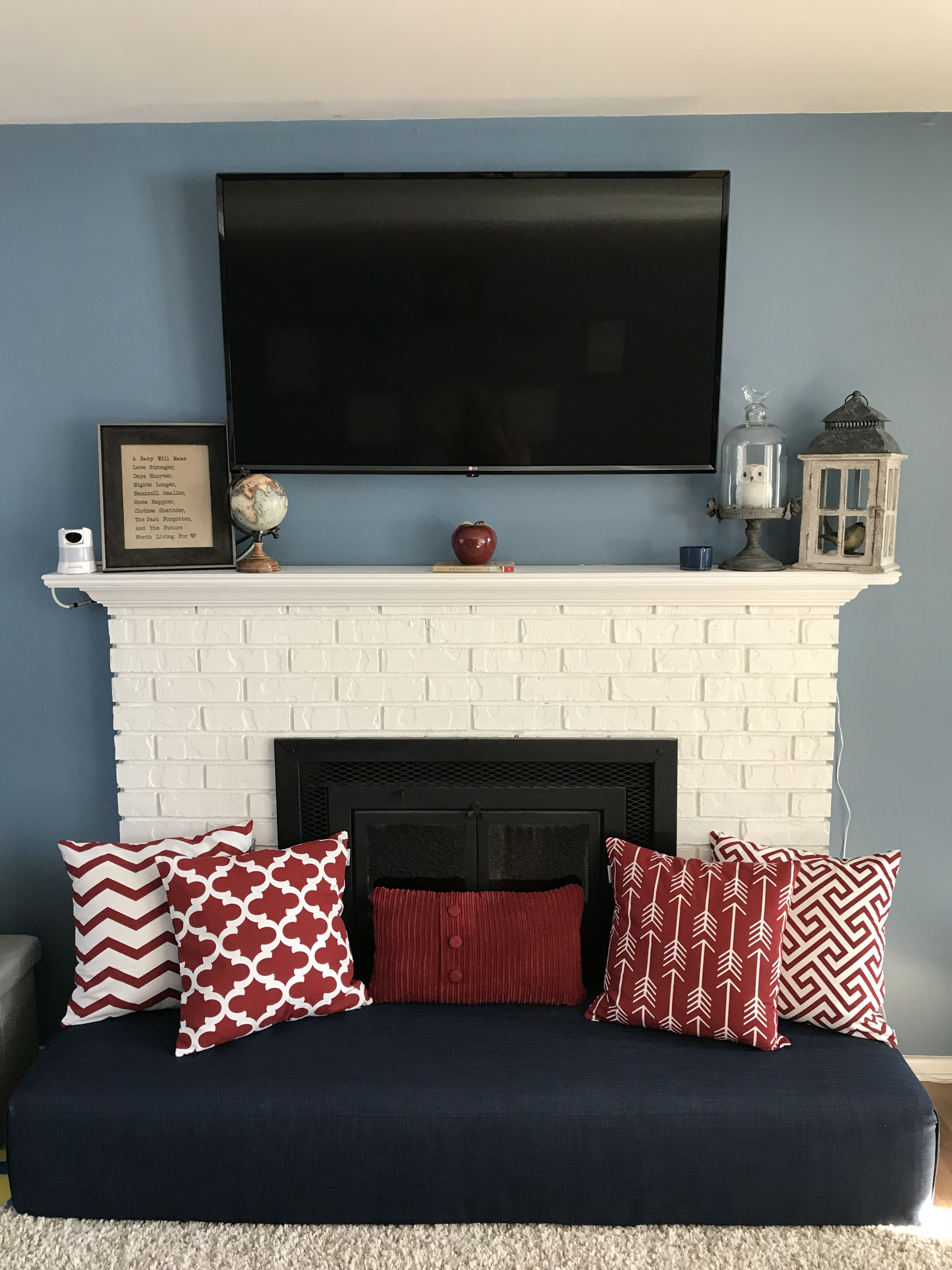 Baby Proof Hearth Fireplace With Cushion Bench Childproof