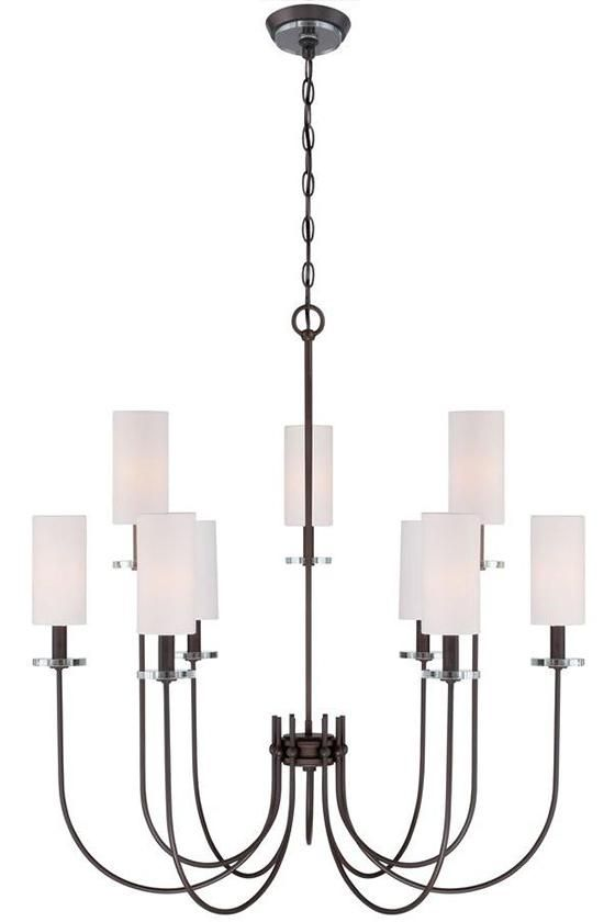 Monroe Chandelier - Modern Chandeliers - Dining Room Chandeliers - Foyer Chandeliers - Contemporary Chandeliers - Five-light Chandelier - Nine-light Chandeliers | HomeDecorators.com