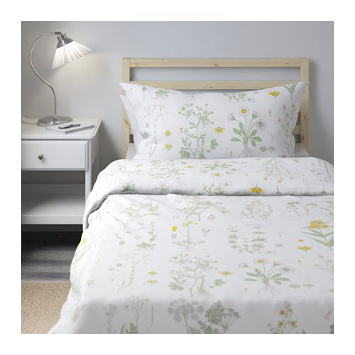 strandkrypa duvet cover and pillowcases floral patterned white floral patterned
