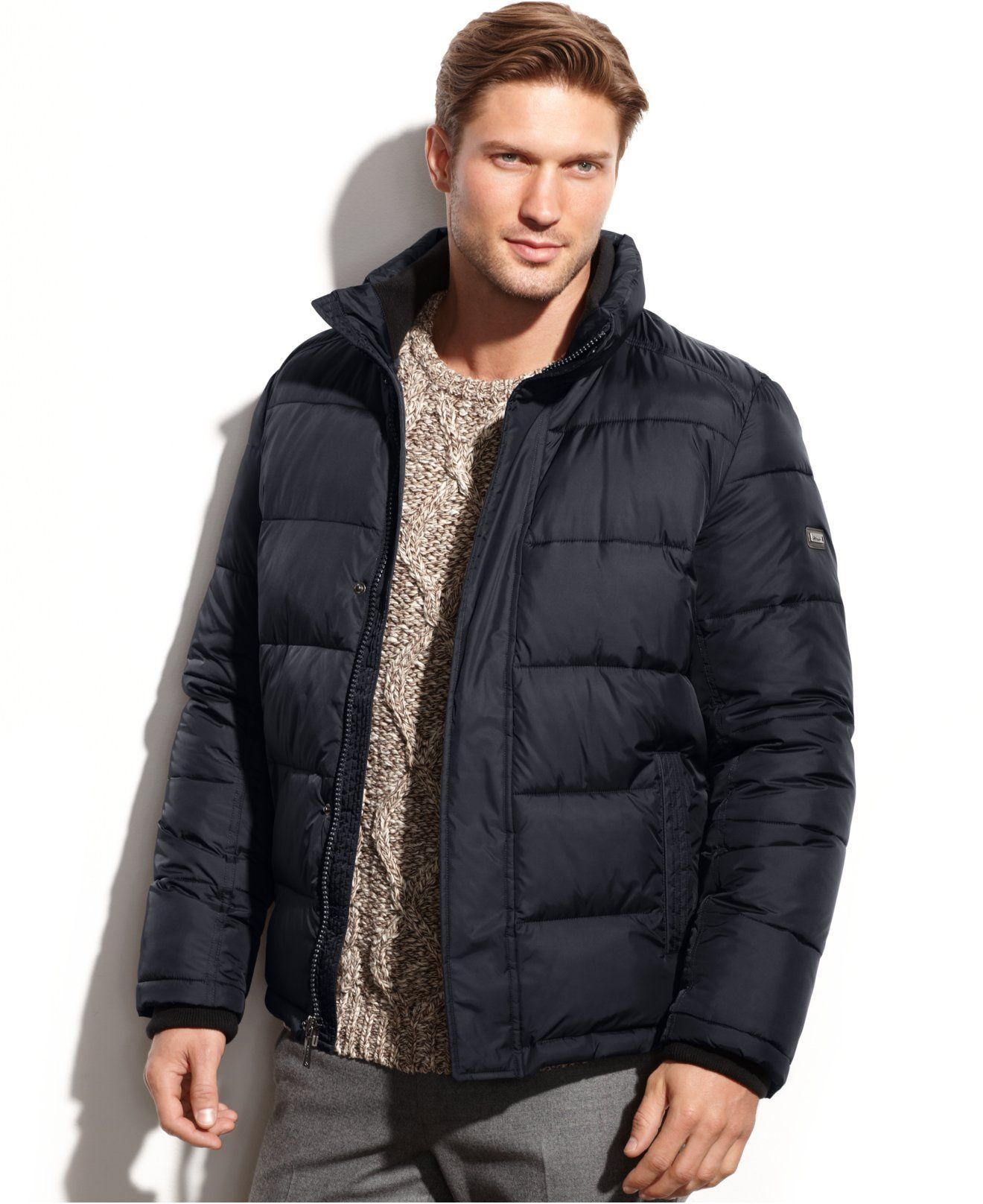 Calvin Klein Solid Performance Puffer Jacket Coats