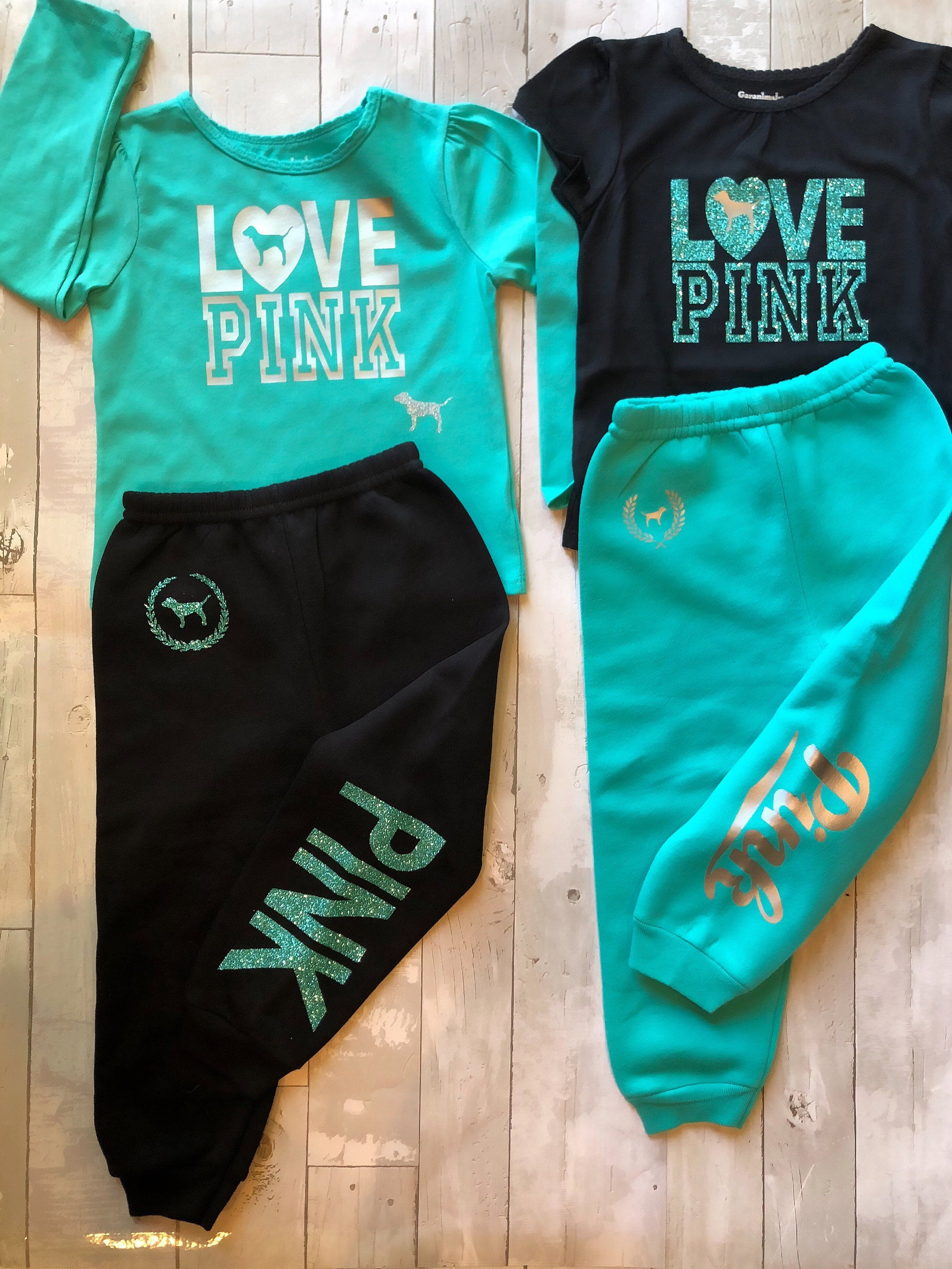 0c5699437659 Toddler Baby Girls Love Pink Size 3T Fall Winter Sweatpants Clothes ...