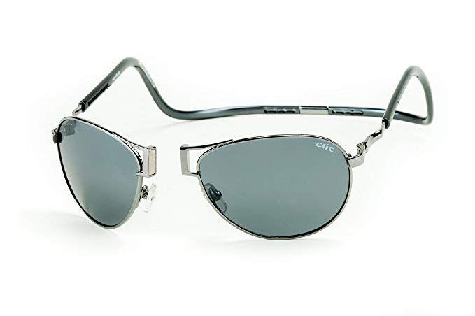 85e24499c74 Clic Magnetic XXL Aviator Metal Polarized Sunglasses Review ...