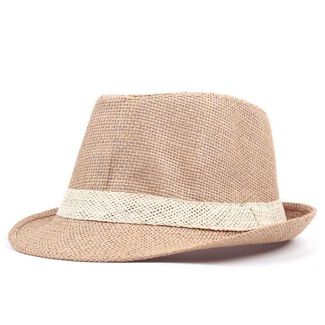 01cdf3e7640c89 [AETRENDS] 2018 New Summer Straw Sun Hats for Men Women Jazz Cap Beach  Panama
