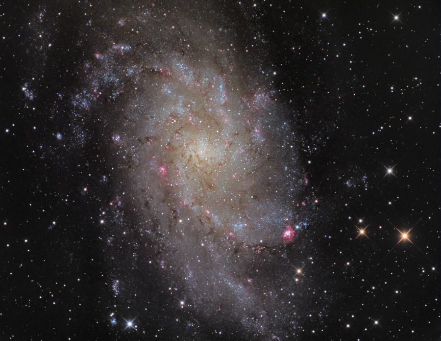 Apod 2010 December 3 M33 Triangulum Galaxy Triangulum Galaxy Galaxy Images Astronomy