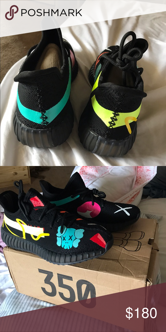 3f95042b53a7b Adidas yeezy Boost sply 350 infrared bred by kaws Art based on KAWS ...