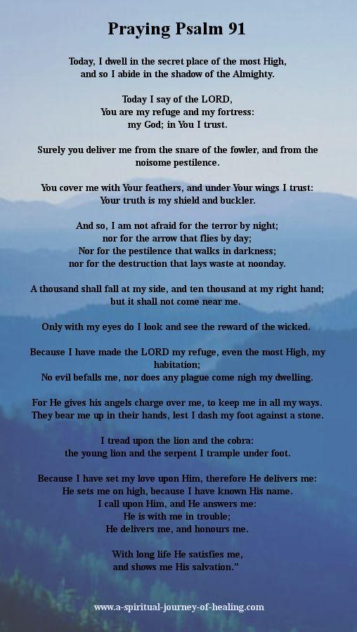 Psalm 91 Picture : psalm, picture, Psalm, Prayer, Protection, Times, Prayer,, Bible, Prayers,, Inspirational, Prayers