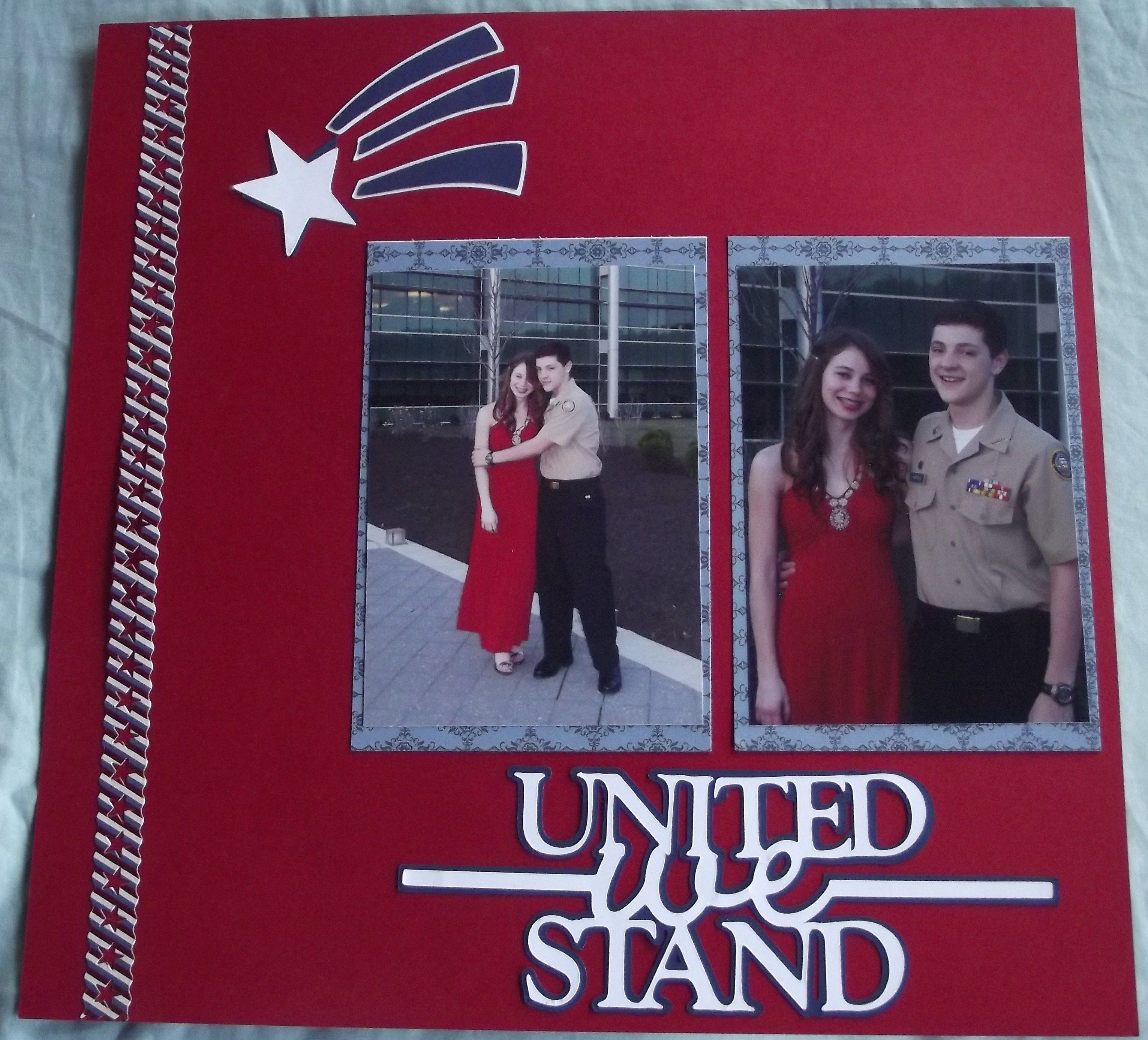 Scrapbook ideas military - United We Stand Military Ball Layout Scrapbook Com