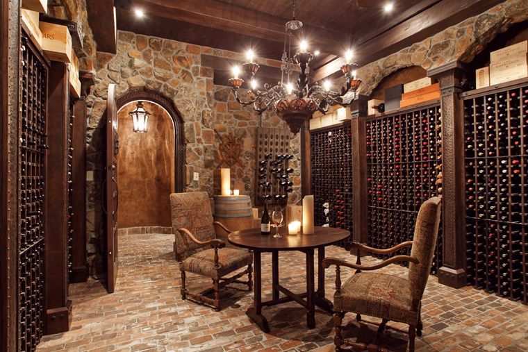 Our french inspired home old world rustic wine cellars for Las vegas homes with basements